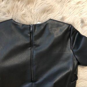 Zara Dresses - Zara Black Faux Leather Mini Dress